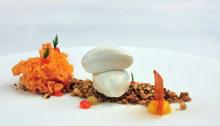Plato restaurante Estrella Michelin