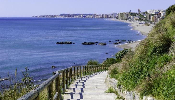 una de las mejores playas bandera azul Benalmádena España
