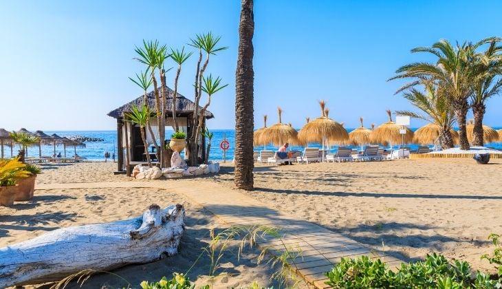 bandera azul playa de Marbella