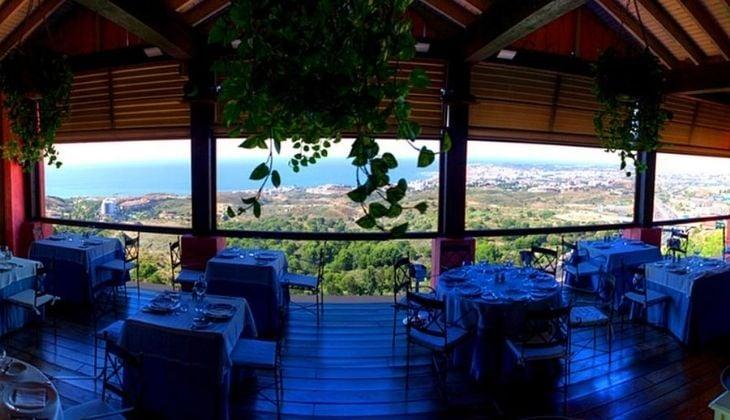 Vista al mar en el restaurante El Higuerón, Fuengirola