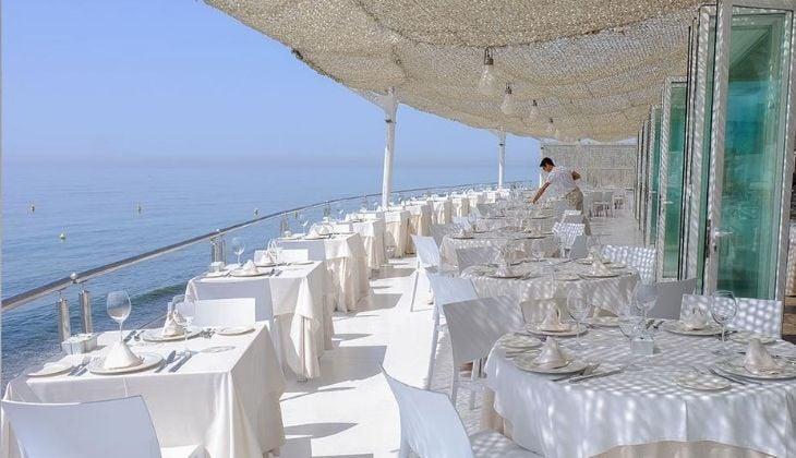Restaurante con vista al mar, El Ancla Beach Club, Costa del Sol
