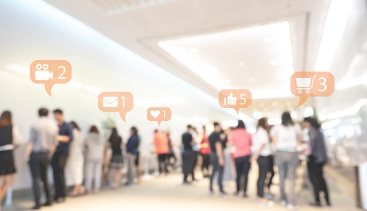 uso de redes sociales en eventos