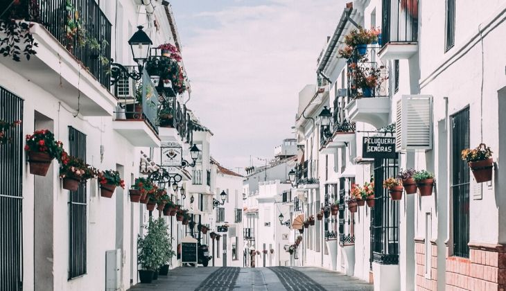 Inland white villages Mijas