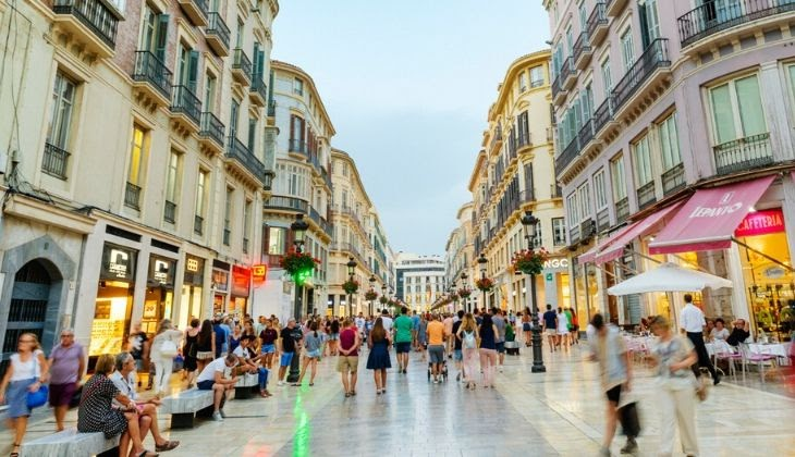 Malaga route in one day