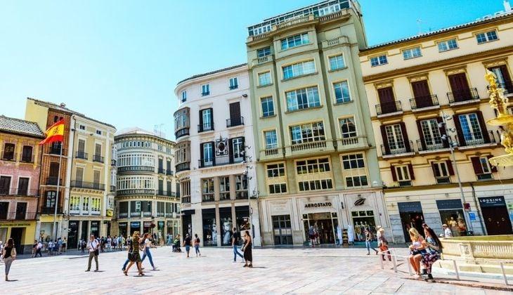 Plaza de la Merced, historic centre of Malaga