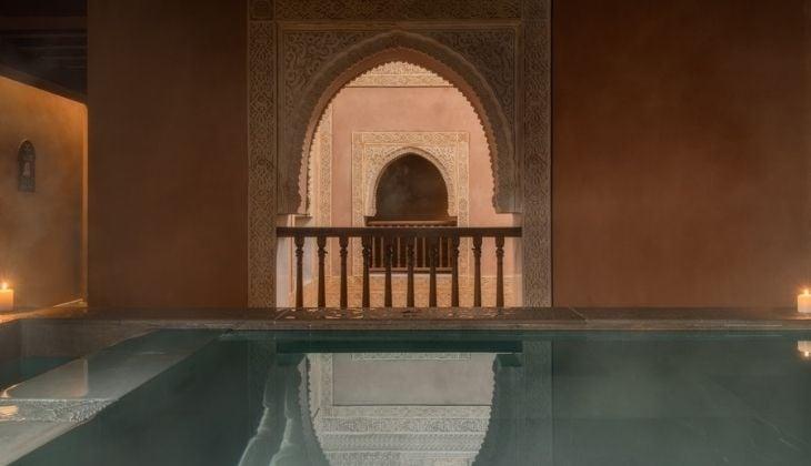 Arab baths, winter in Malaga Spain