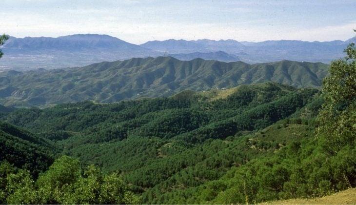Montes de Málaga natural park, mountains in Malaga