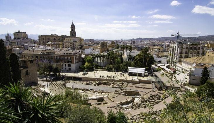 Mirador de la Alcazaba views in Malaga city