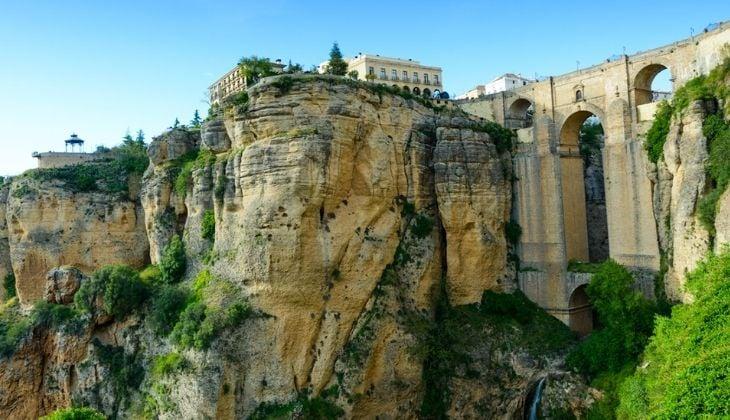 Puente nuevo in Ronda views in Malaga Spain