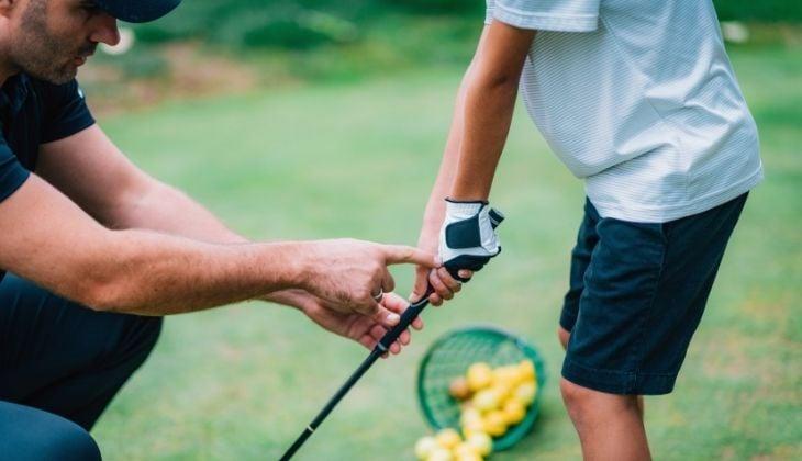 Set of kids golf clubs