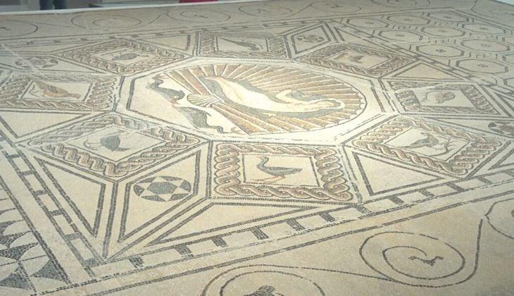 Tourisme culturel mosaïque romaine de la naissance de Vénus