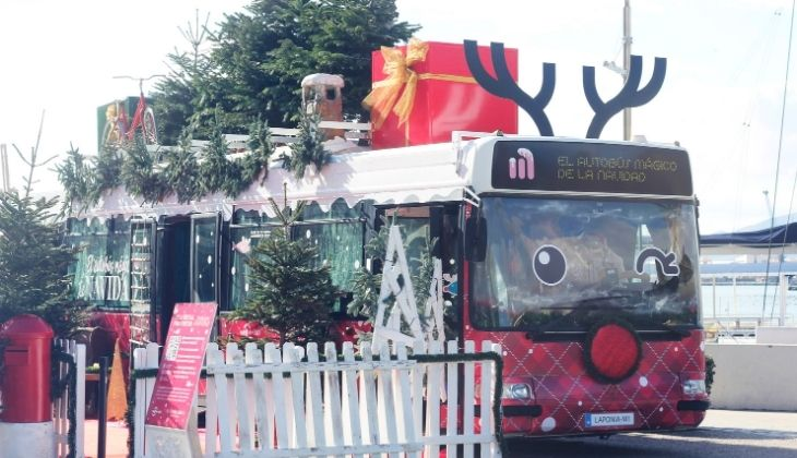 Magical Christmas bus, Christmas activities for children in Malaga