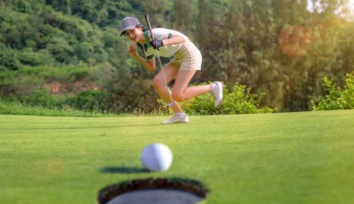 Utilizar el putt golf técnica