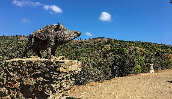 mirador del cochino Montes de Málaga
