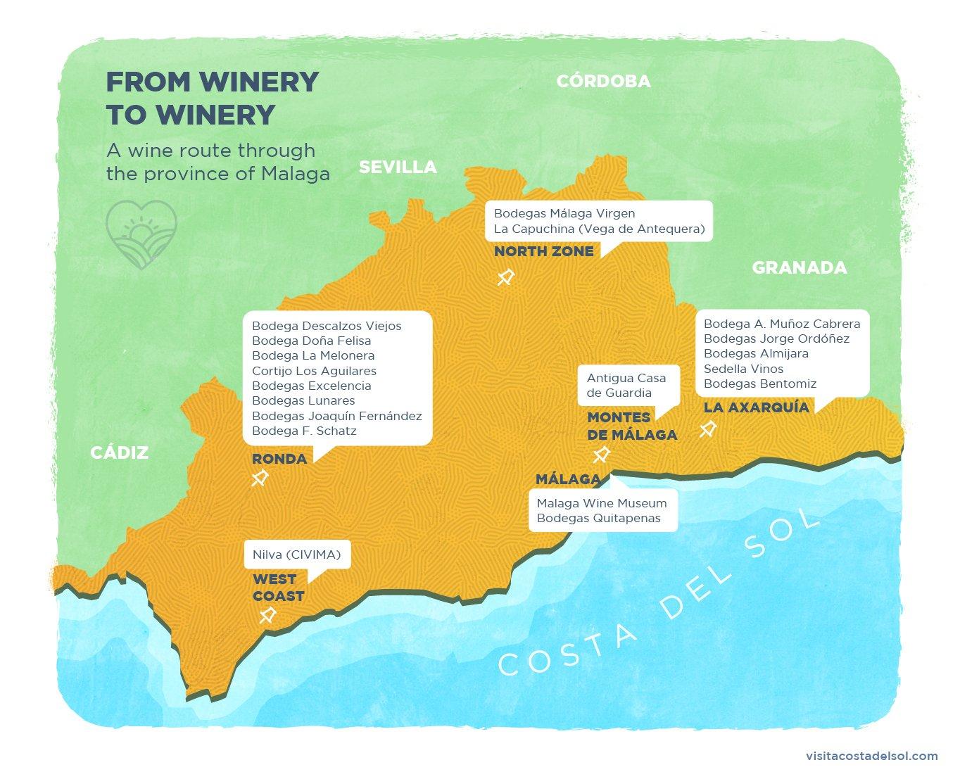 Malaga's wine regions Costa del Sol's most exclusive wineries