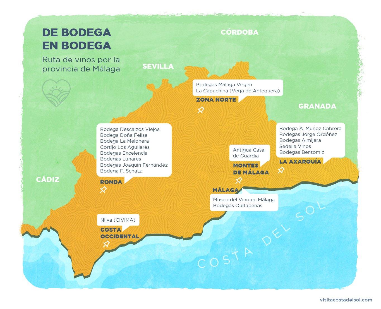 ruta de vinos por la provincia de Málaga