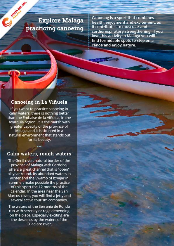 Explore Malaga practicing canoeing