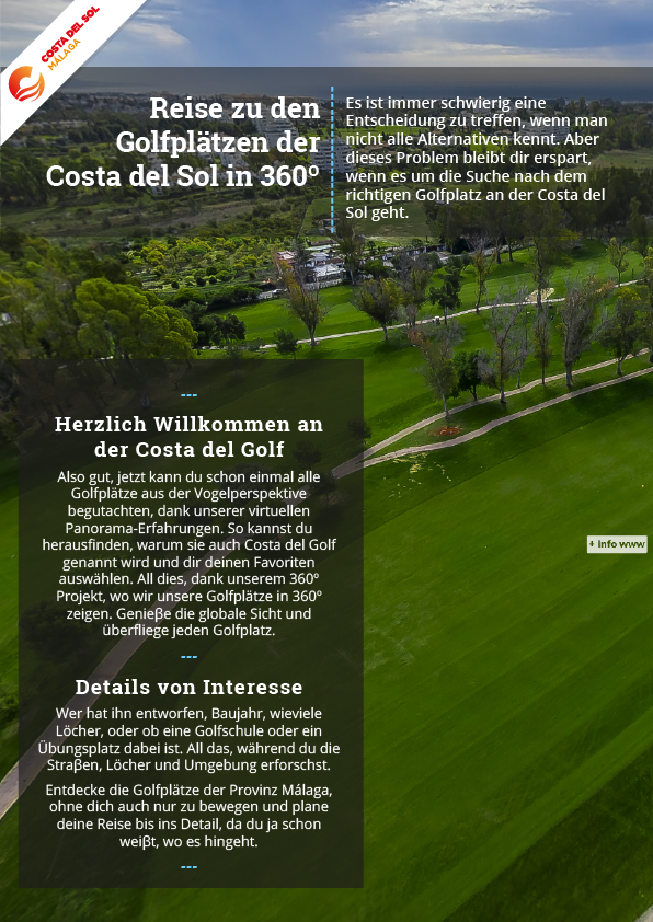 Golfplätzen der Costa del Sol