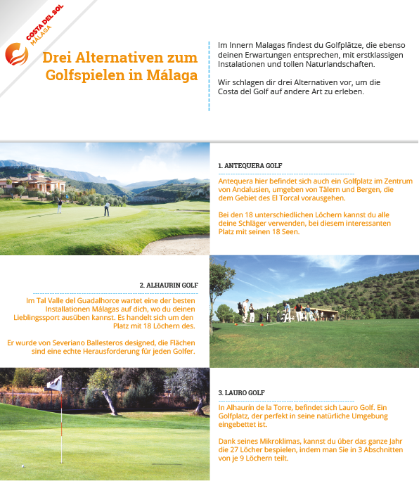 Alternativen zum Golfspielen in Malaga
