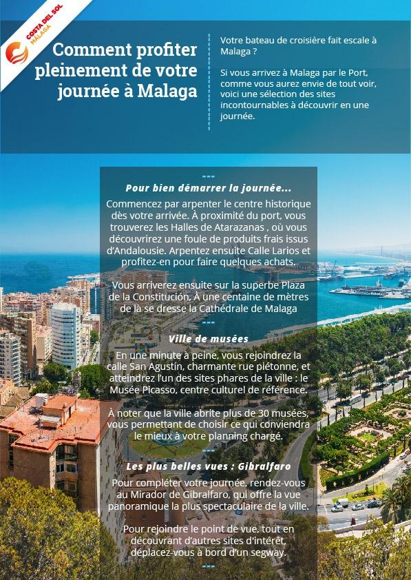 Profiter pleinement de votre journée à Malaga