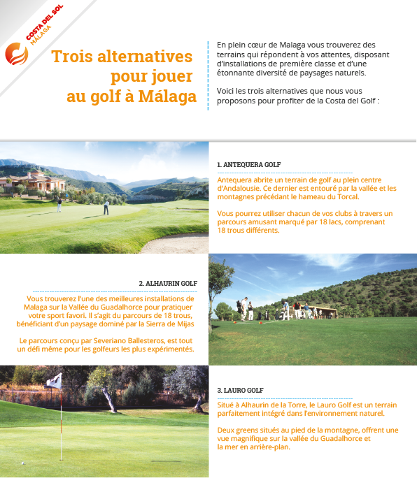 Alternatives pour jouer au golf à Málaga