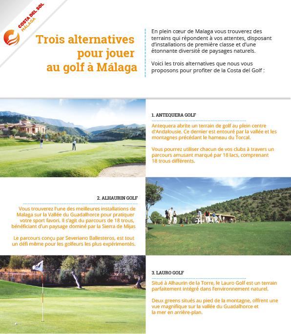 Alternatives pour jouer au golf à Málaga