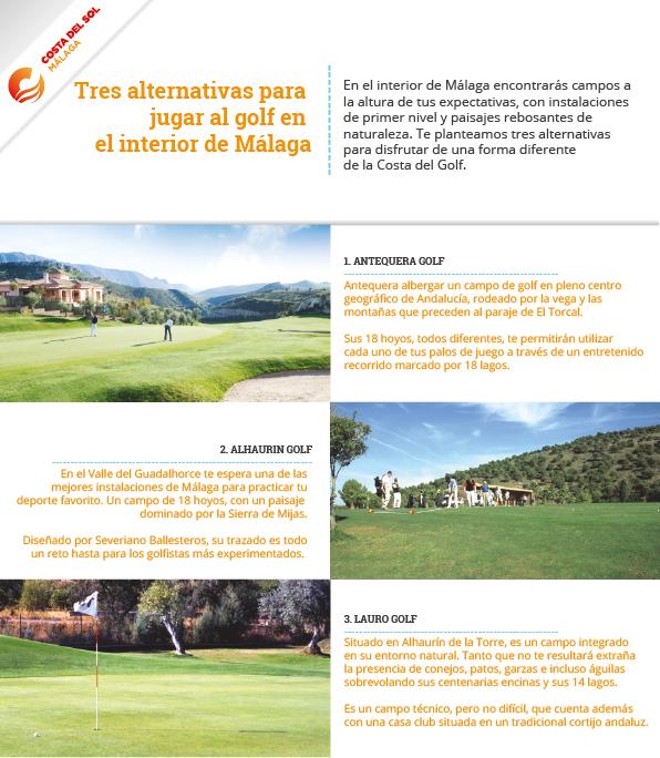 Campos de golf interior Málaga