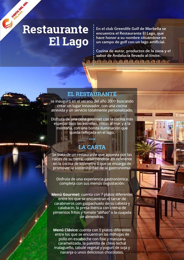 Restaurante El Lago, estrella Michelin en Marbella