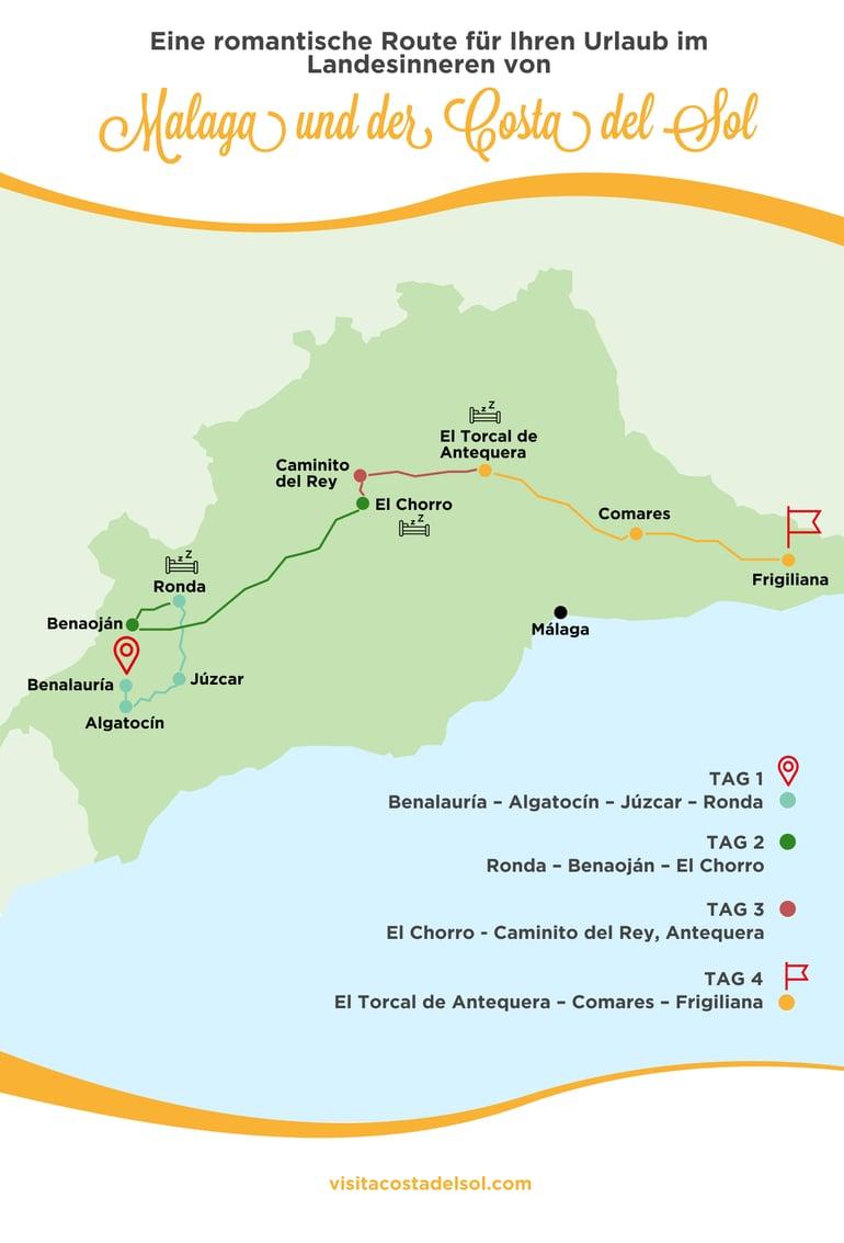 Romantischer urlaub zu zweit Malaga und der Costa del sol
