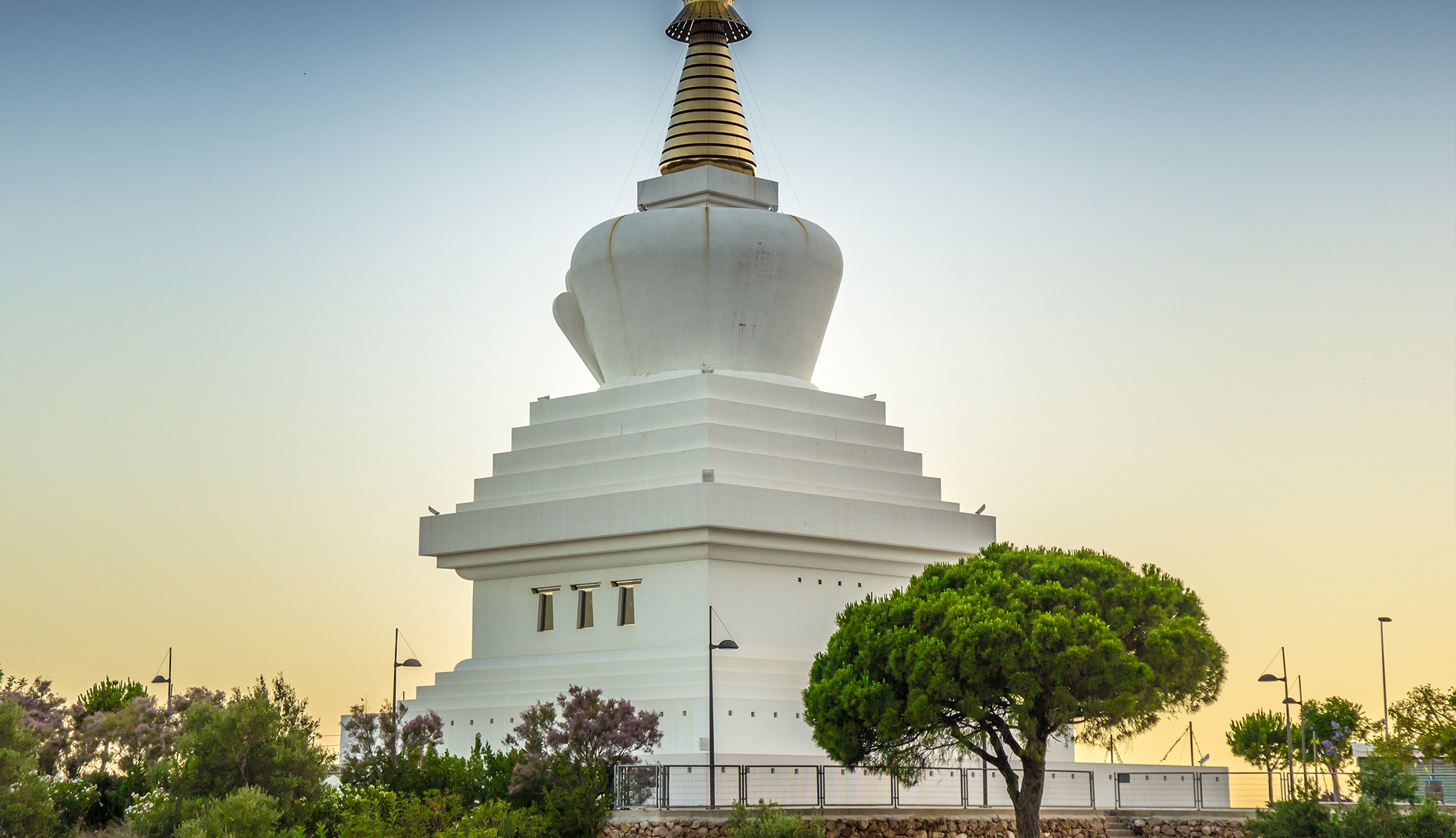The Europe's largest Buddhist temple is in Benalmádena