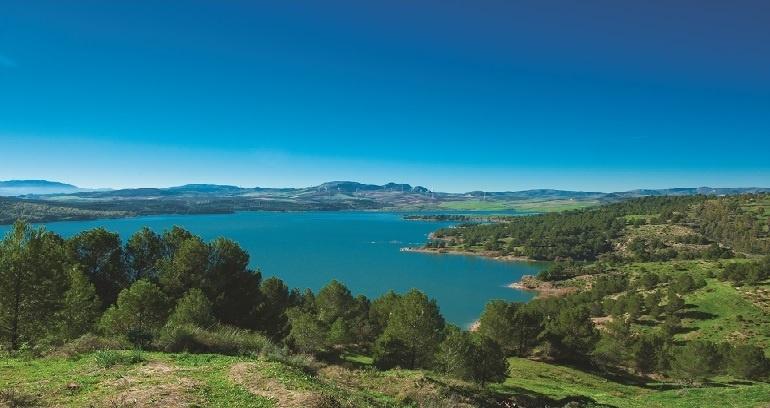La Viñuela lake, a natural paradise of the Axarquia, Malaga