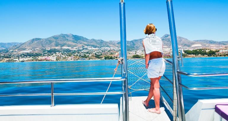 Boat route on the Costa del Sol