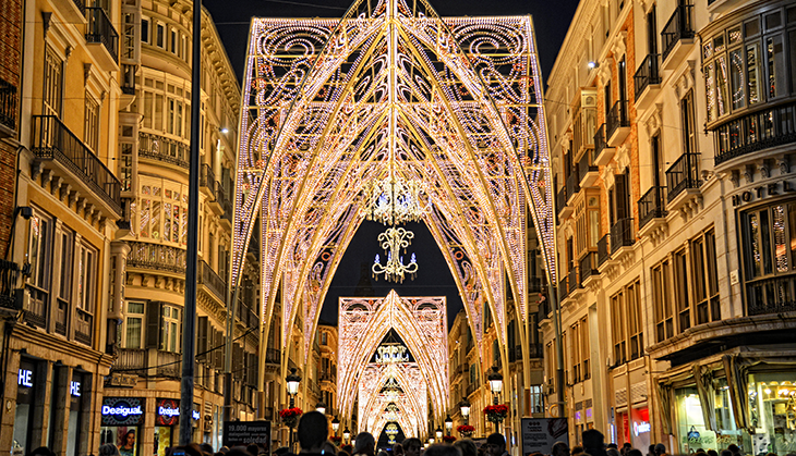 Malaga lights up Christmas